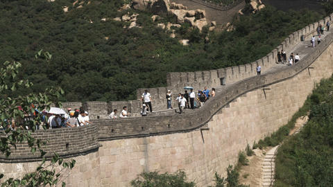 Shot of the Great Wall of China in the Badaling section Live Action