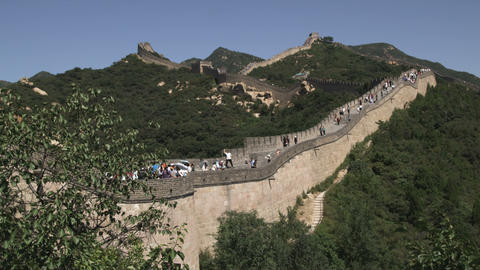 Clip of the Great Wall of China in the Badaling section Live Action