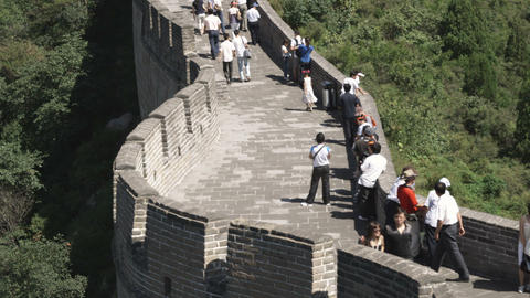 Panorama of the Great Wall of China at the Badaling section Live Action