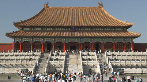 Forbidden City palace in China Footage