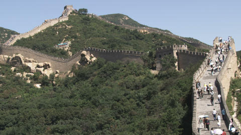 Section of the Great Wall of China at Badaling Live Action