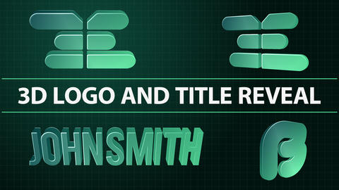 3D Logo and Title Reveale After Effects Template