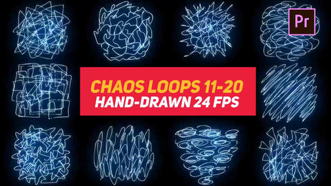 Liquid Elements Chaos Loops 11-20 Motion Graphics Template