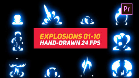 Liquid Elements Explosions 01-10 Motion Graphics Template