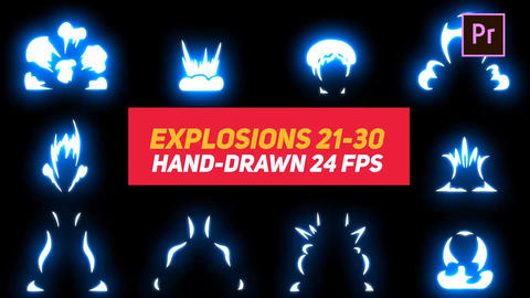 Liquid Elements Explosions 21-30 Motion Graphics Template