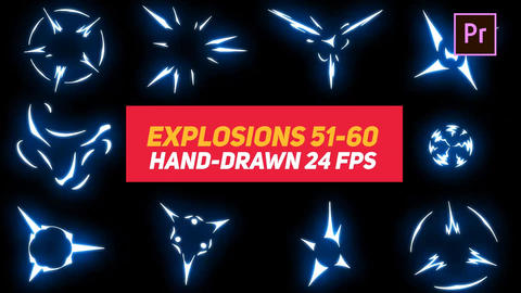 Liquid Elements Explosions 51-60 Motion Graphics Template