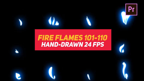 Liquid Elements Fire Flames 101-110 Motion Graphics Template