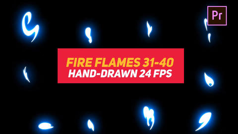 Liquid Elements Fire Flames 31-40 Motion Graphics Template