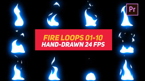 Liquid Elements Fire Loops 01-10 Motion Graphics Template