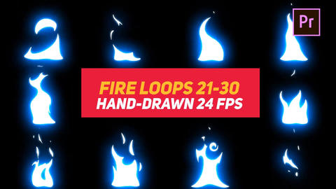Liquid Elements Fire Loops 21-30 Motion Graphics Template