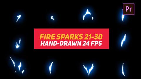 Liquid Elements Fire Sparks 21-30 Motion Graphics Template