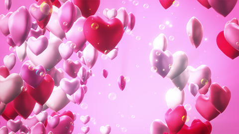 Valentine Bubble 03 4K CG動画素材