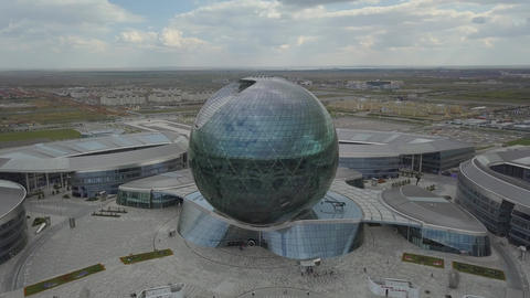 Spherical architecture on the background of the city Footage