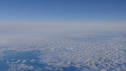 Cloudscape Panorama From Airplane View Live Action