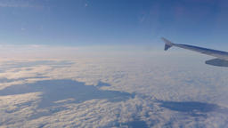 Cloudscape Panorama From Airplane in Flight Live Action
