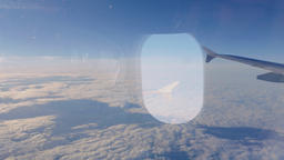Cloudscape Panorama From Airplane in Flight Footage