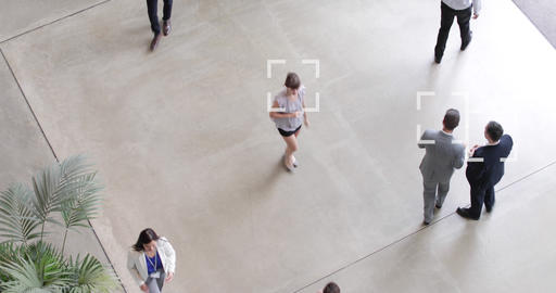 CCTV of facial recognition technology in airports to…, Live Action