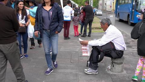 Cuenca, Ecuador - 20181003 - Cuenca Independence Day Festival - Lottery Tick Footage