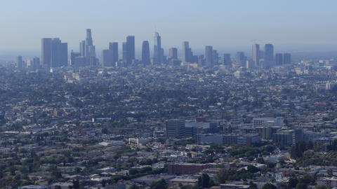 Skyscrapers Downtown Buildings City Of Los Angeles California United States Footage
