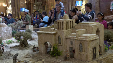 People line up to see Largest Nativity Scene in South America has 1400 Footage