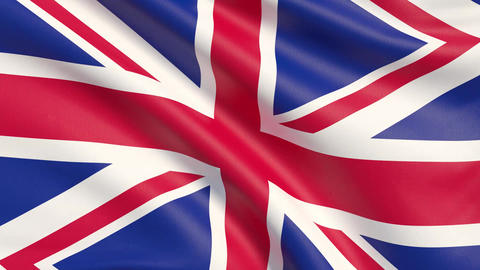 Great Britain, United Kingdom flag Live Action