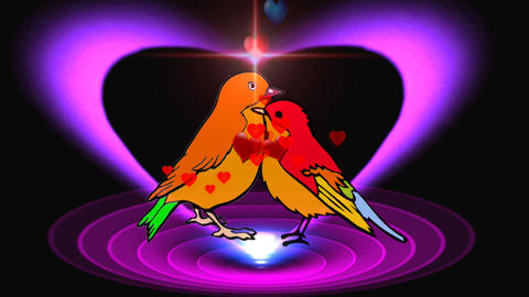 LOVE BIRDS-ROMANTIC FEELINGS Animation