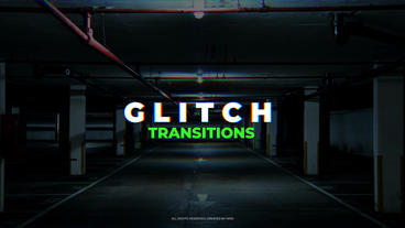 Glitch Transitions Premiere Proテンプレート