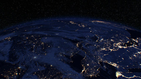[alt video] Beautiful Sunrise over the Earth. View from Space...