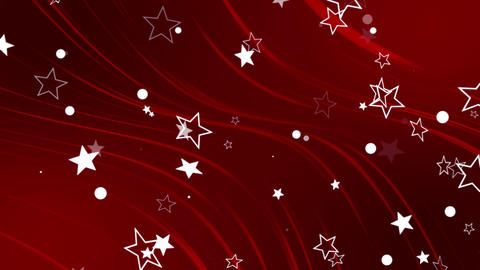 Stars on Red Elegant Background Loop GIF
