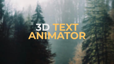 3D Text Animator Presets Premiere Proテンプレート
