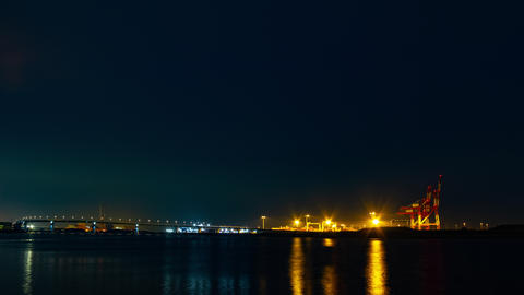 Night Time lapse near the river at the industrial area in Yokkaichi Mie ライブ動画