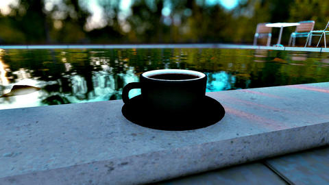 Black cup mockup GIF