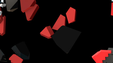 8 bits pixel hearts animation. Retro arcade video game Valentine´s Day Animation