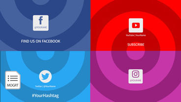 Transition with Social Media Icons Motion Graphics Template