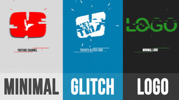 Minimal Glitch Logo After Effects Template