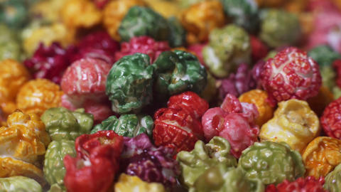 Colorful Popcorn Stock Video Footage