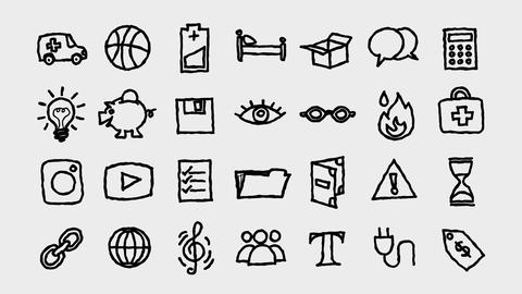Freehand Icons Toolkit 2, Stock Animation