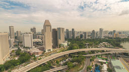 Singapore time lapse 4K, high angle view city skyline timelapse at Marina Bay ビデオ