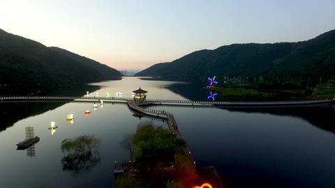 Aerial View of Okyeonji Songhae Park , Dalseonggun,… Stock Video Footage