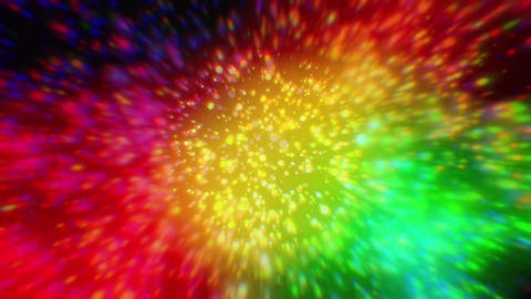 Colorful blurred lights Animation