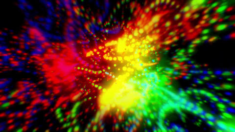 Colorful blurred lights CG動画素材