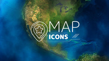 Map Icons After Effects Template