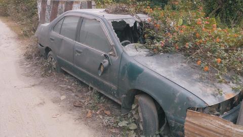 Apocalyptic Abandoned Car 05 Footage