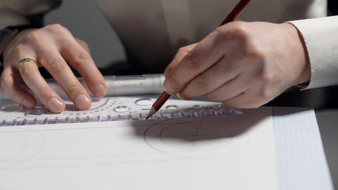 close view designer connects round drawing parts with line GIF