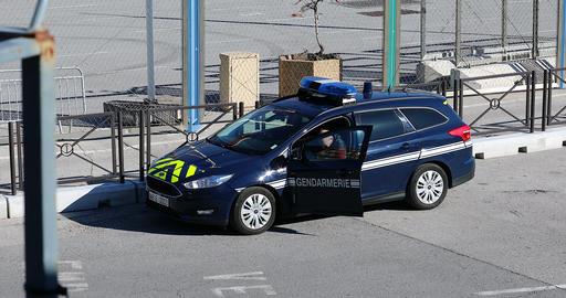 French Gendarmerie Police Car 영상물