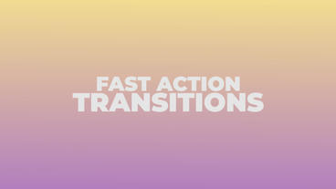 Fast Action Transitions Premiere Proテンプレート