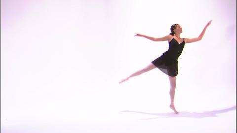 Ballerina in black dancing Footage