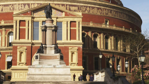 Pan of the Royal Albert Hall in London Footage