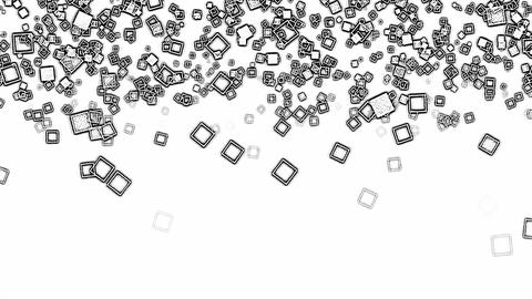 Abstract Falling Squares Background Animation - Loop Animation