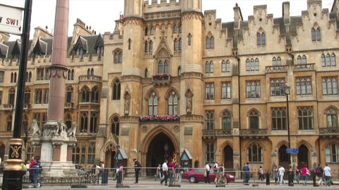 Building near Westminster Abbey in London England Footage